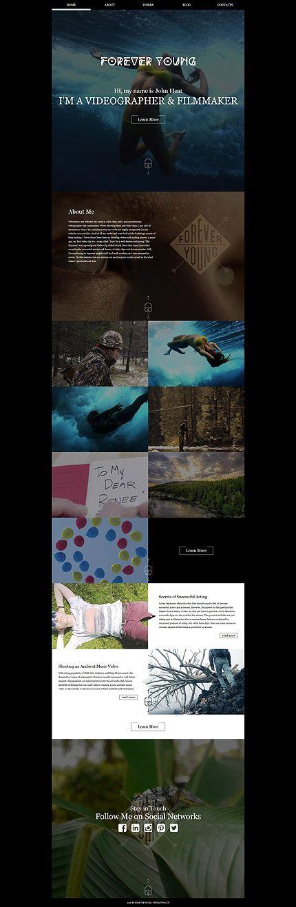 Filmmaker Personal Portfolio #website #template. #themes #business #responsive #websitethemes