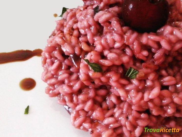 Risotto alle ciliege e menta  #ricette #food #recipes