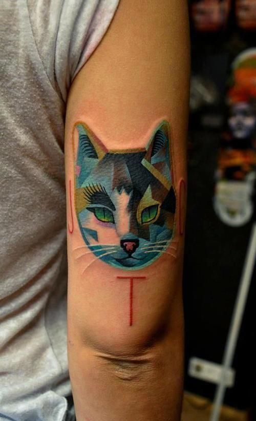 Cat tattoo. #tattoo #tattoos #ink