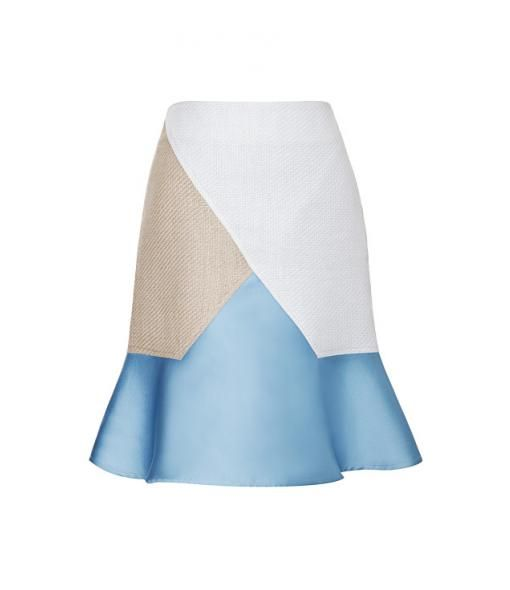 Ostwald Helgason Raffia Panel Skirt