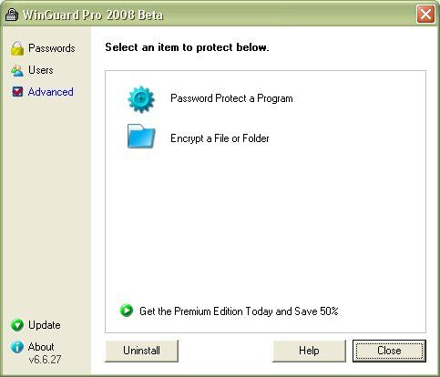 WinGuard Pro 2014 8.9.2.3 (Click image to go to our download page.) Secure your computer by password protecting your Windows applications, programs and EXE files. Plus, protect your data with encryption for your files, folders and drives - directly from Windows Explorer. Extra features allow you to disable the Task Keys, Software Installation, Internet Explorer, Mozilla FireFox, Downloading Files, Zip and Self Extracting Files and more. (click image to read more)