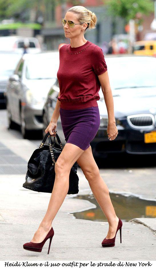 Heidi Klum e il suo outfit per le strade di New York