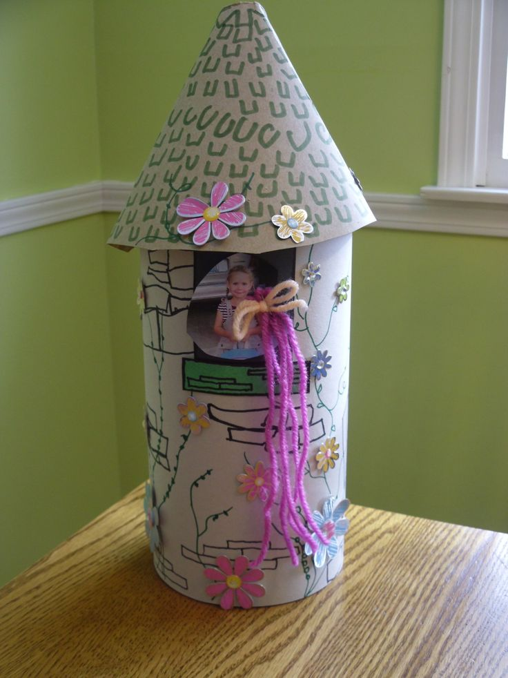 Rapunzel Tower using an oatmeal box. (Life's Moments: Valentines Boxes)