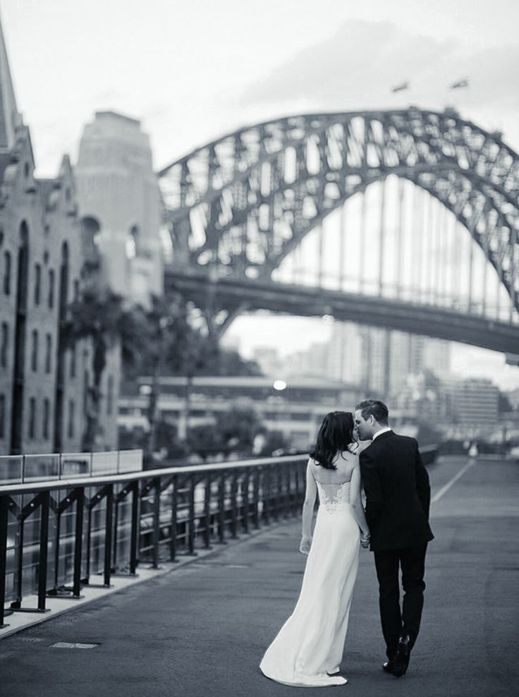 Alix and John's Wedding, Museum of Contemporary Art, Sydney - New South Wales, Australia. GOWN: Unbridaled by Dan Jones 'Hansen' PHOTOGRAPHY: www.tealilyphotography.com