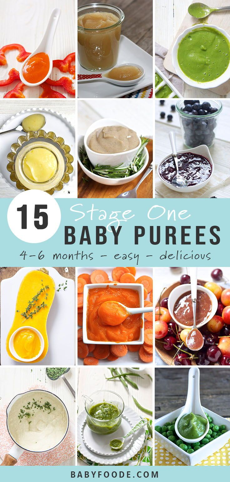 15 Stage One Baby Food Purees (4-6 Months