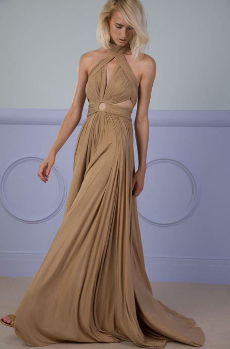 MOSS floor-length dress