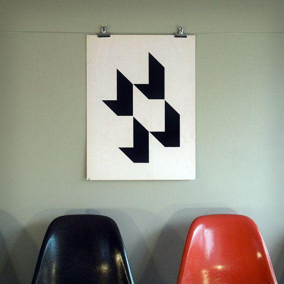 :: Arnold Saks Steel Properties logo poster c1975, NewDocuments on Etsy ::