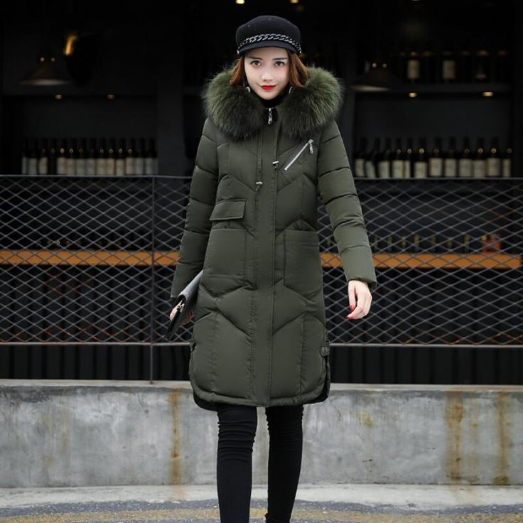 Cheap winter coat women, Buy Quality ladies coats directly from China women coats and jackets Suppliers: SZMXSS Winter Wear Large Fur Collar Ladies Coats 2017 Winter Coat Women Parka Long Thick Slim Womens Coats And Jackets Outerwear
