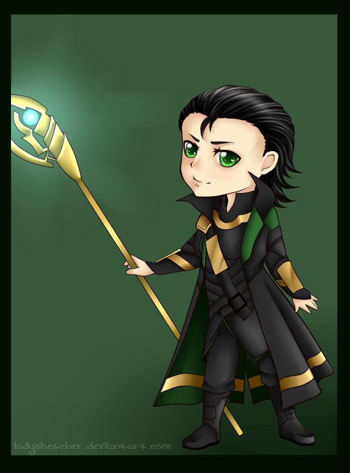 Chibi Loki by *RainbowYukii