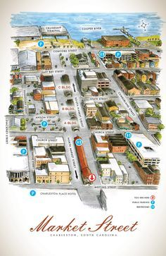 Market Street Map, Charleston, SC what a fun place with so much to see and do! Thanks to Karen for showing us the sights!