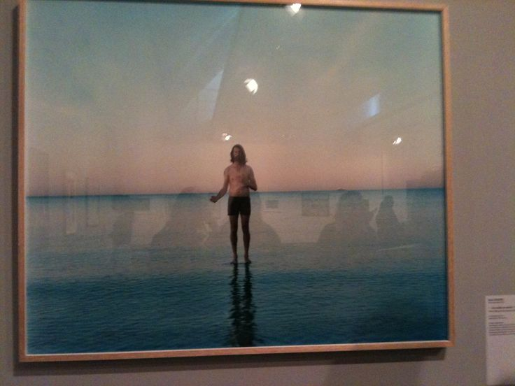 """Ross Coulter (Born Australia 1972)  """"...He walks on water"""" 2013, from the series 'Aussie Jesus'  Chromogenic print"""