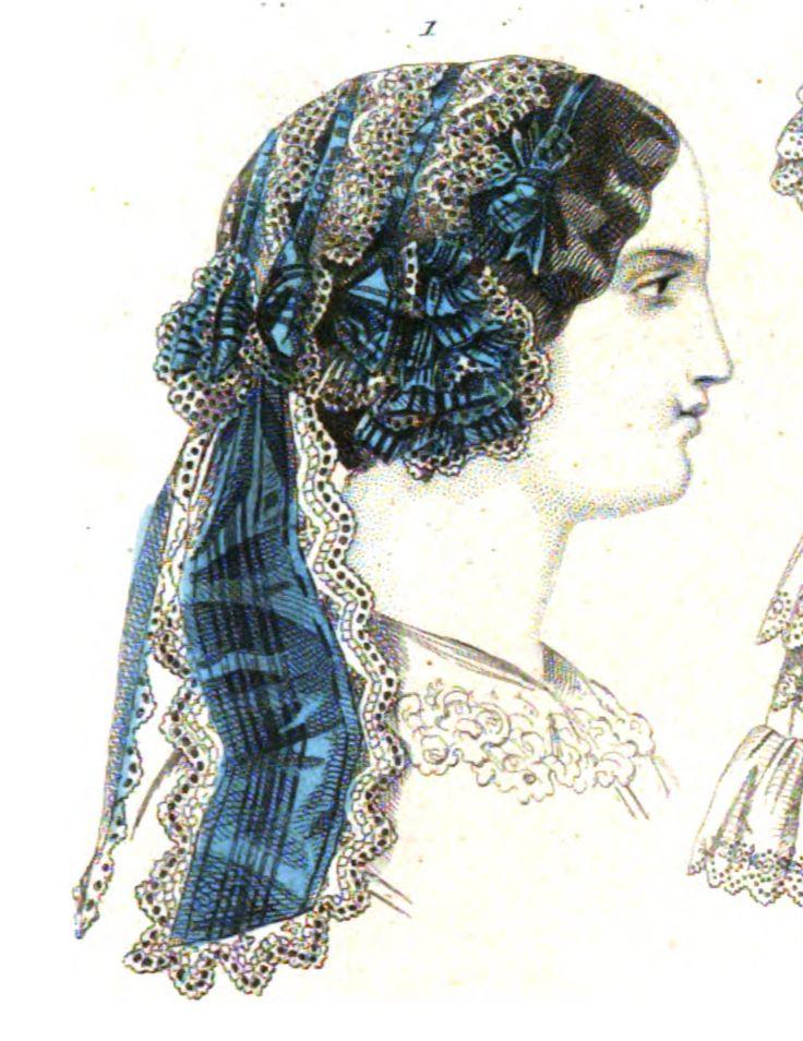 1854.  Le Moniteur de la mode.  Short side floof with back lappets.