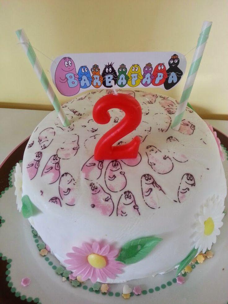 Gâteau Barbapapa pour ses 2 ans !