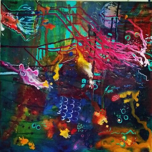 """Reef Spectrum"" mixed media on canvas by Susan Curtin. http://www.facebook.com/susancurtinart"