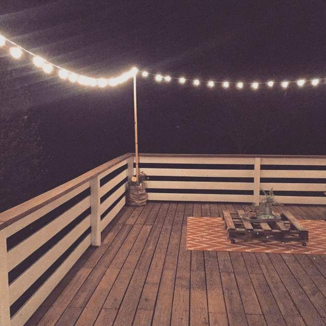 String Lights On Deck Railing : 25+ best Simple deck ideas on Pinterest Small decks, Backyard decks and Front deck