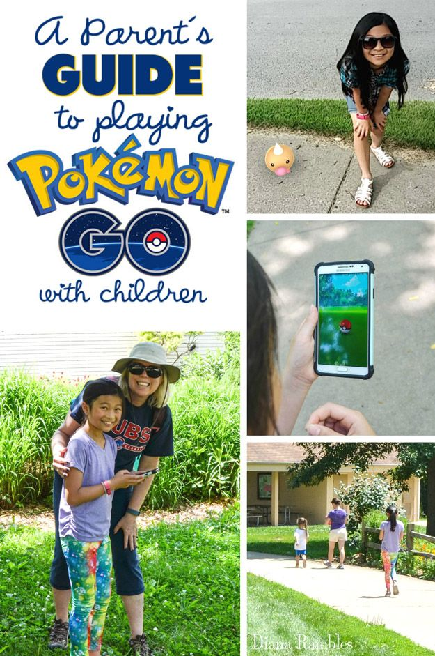 A Parents Guide to Playing Pokemon Go with Children - Does your child want to play Pokémon GO? Here are some tips for playing the game with kids. Families can enjoy catching Pokémon together! #PokemonGO #Pokemon