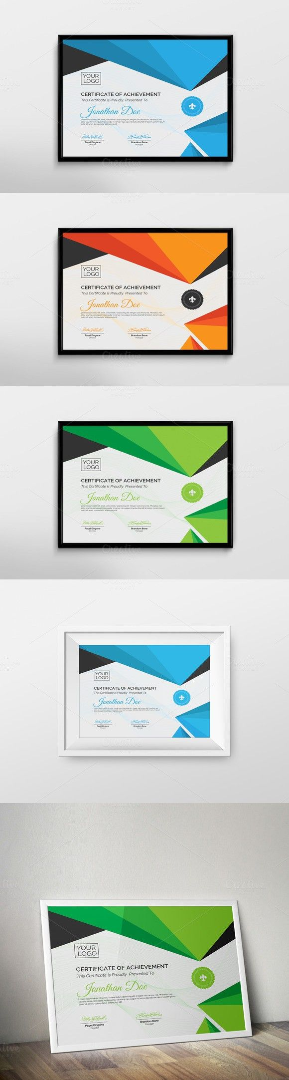 Creative Certificate Template. Stationery Templates. $6.00  Creative Certificate Designs