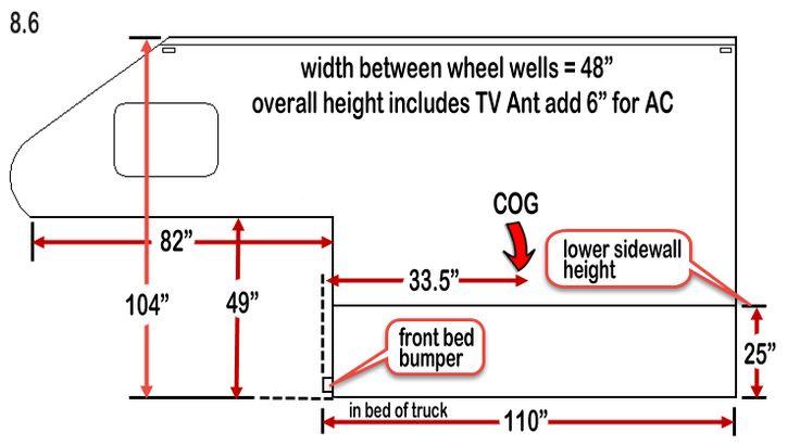 Image Result For Truck Camper Floor Plans 8 U0026 39