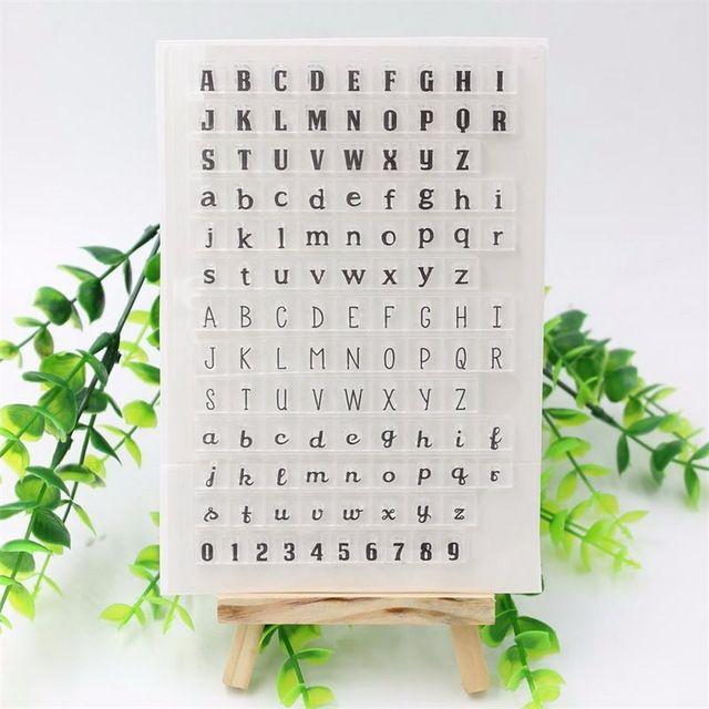 DIY foto kaarten account rubber stempel clear stempel Engels Alfabet 0-9 Nummers Plakboek transparante stempel