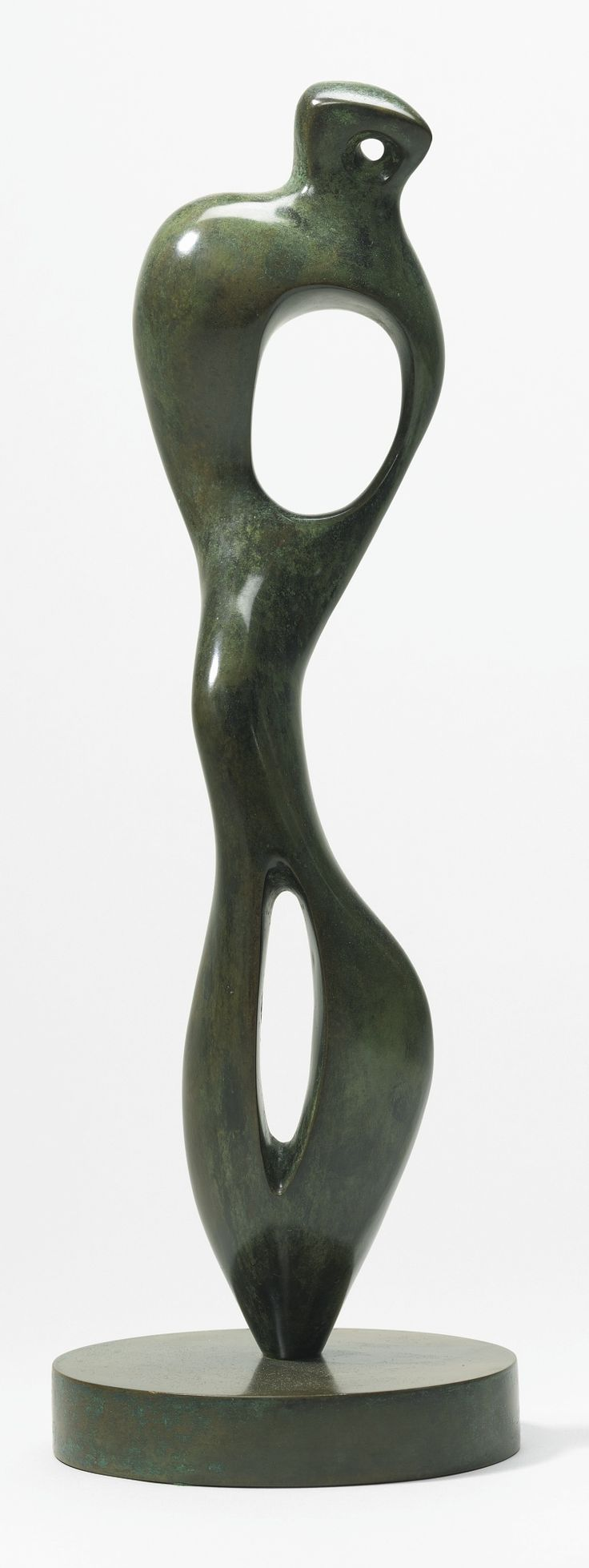 HENRY MOORE 1898 - 1986 INTERIOR FORM  Inscribed Moore and numbered 6/9 Bronze Height: 19 1/4 in. 48.8 cm Conceived in 1951 and cast in 1981