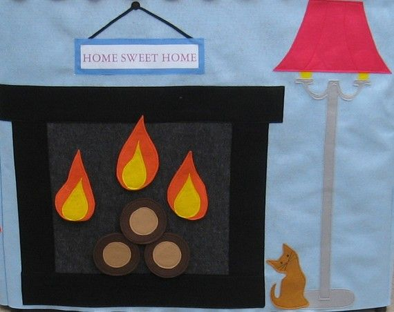 Add an Inside Wall to your Playhouse, Living Room/Fireplace