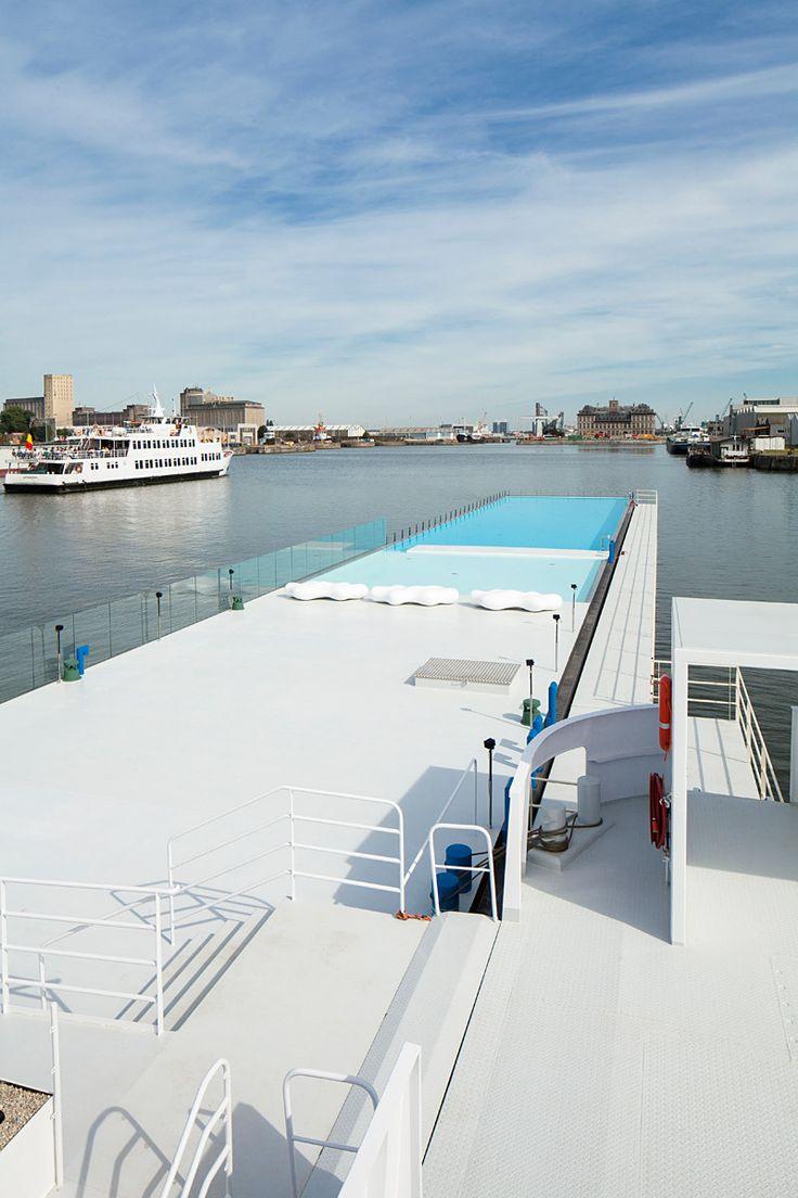 The Badboot Lido Opens in Antwerp | Badboot Lido in Antwerp, Belgium, designed by Sculp (IT) | Bustler.net