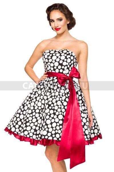 7fecff75cb Nyári ruha, gyönyörű, vintage - 39476 - fekete-fehér-piros ekkor: 2019 | Nyári  Ruhák - Catwalker Női Ruha Webáruház Webshop | Strapless dress formal, ...