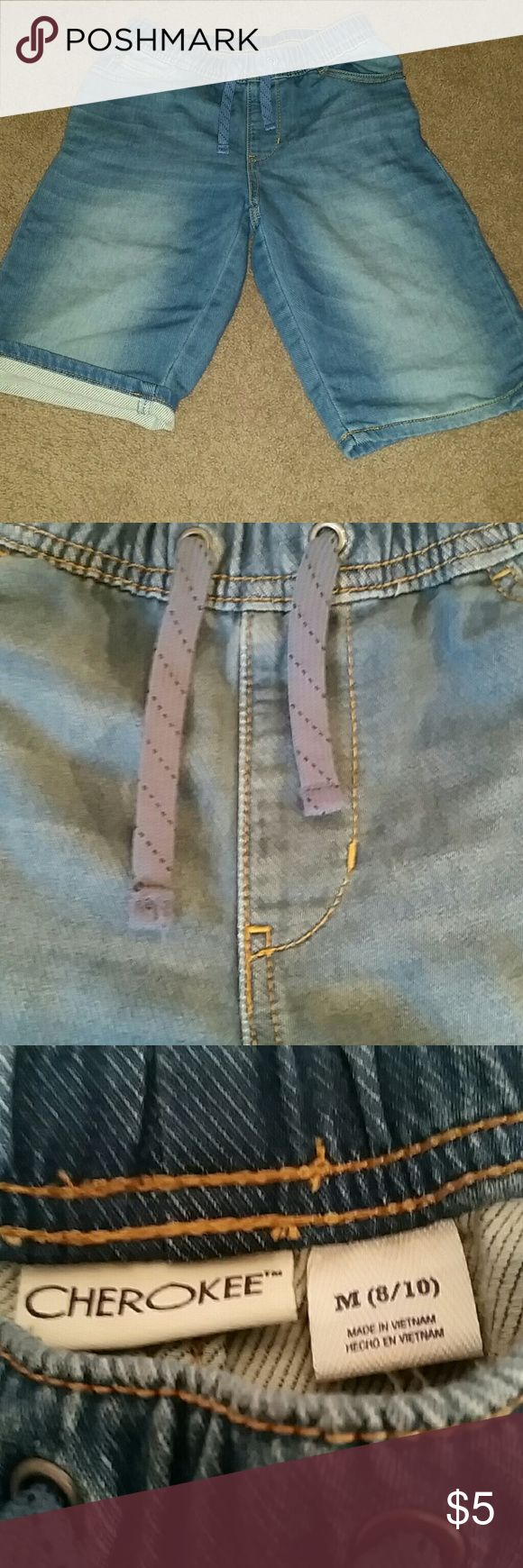 Selling this Cherokee brand jean drawstring shorts. on Poshmark! My username is: pp12345. #shopmycloset #poshmark #fashion #shopping #style #forsale #Cherokee #Other