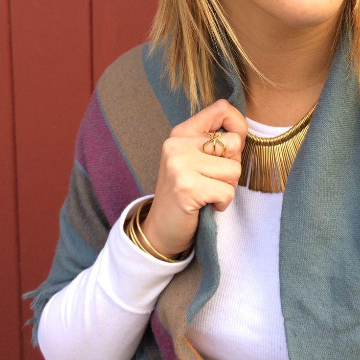 stella & dot essential fringe necklace