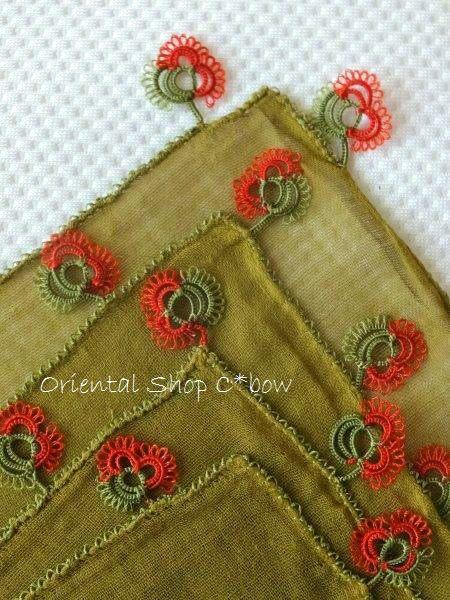 エスキシェヒル:アンティークオヤスカーフ:メキッキオヤ:モスグリーン - Oriental Shop C*bow