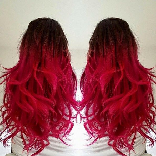 18 Striking Red Ombre Hair Ideas