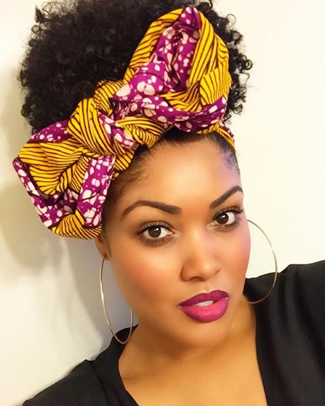 WEBSTA @ candicoatedcurls - I rocked one of the lovely head wraps I received in my @curlbox dope deal box today. I did the best I could with tying the bow.. I'm new to this lol. I plan to spend some time experimenting and learning how to tie my head wrap in various ways soon. I love it!  #thewraplife #curlboxdopedeal