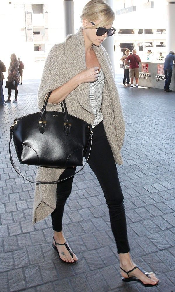 nice Charlize Theron Gives Us Airport Style Inspiration - Tuesday 14th July