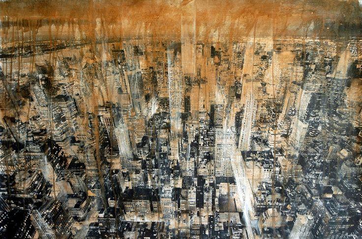 "Saatchi Online Artist: dario moschetta; Acrylic, 2011, Painting ""NY3"""
