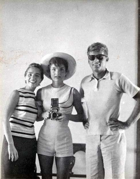 fashion clothes online Jackie Kennedy taking a selfie in the mirror with Ethel Kennedy and John F  Kennedy in 1954