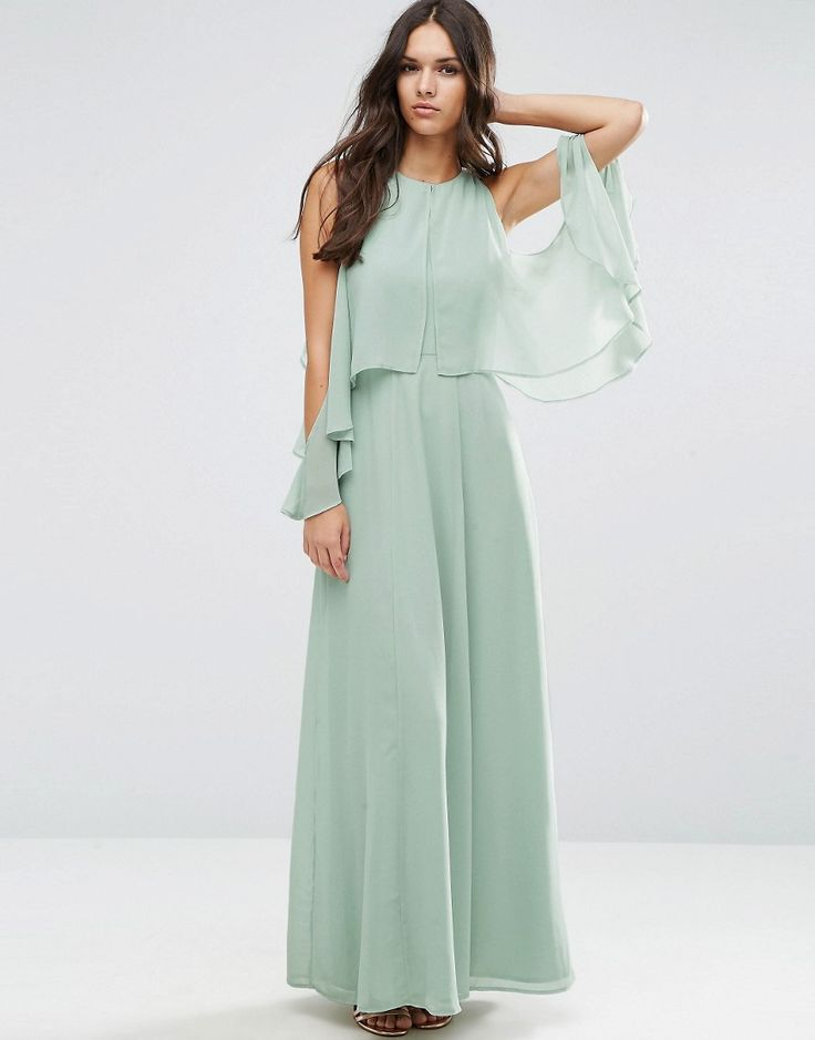 ASOS+Extreme+Cold+Shoulder+Maxi+Dress