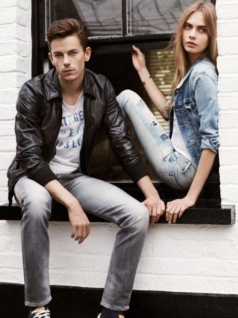 Cara Delevingne and Jeremy Young star in Pepe Jeans Spring/Summer 2013 campaign