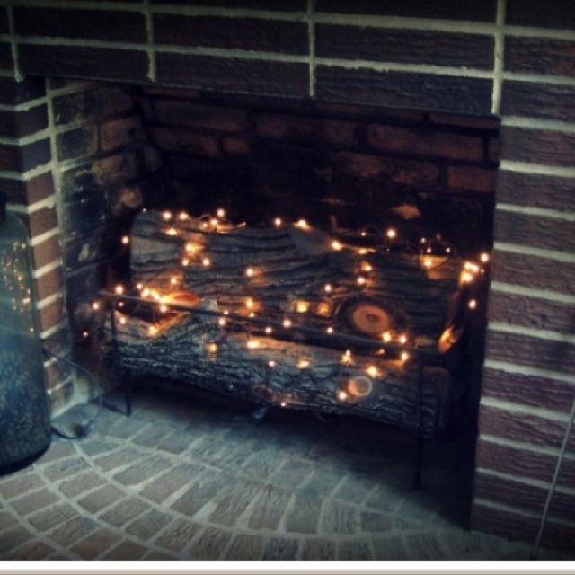 For summer in the fireplace :)                                                                                                                                                                                 More