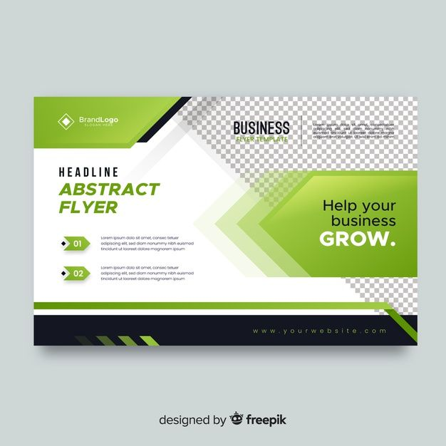 Business Flyer With Green Elements Free Free Vector Freepik Freevector Freeflyer Freebusiness Freeabstrac Business Flyer Glossy Business Cards Flyer