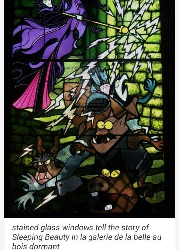 Castle stain glass