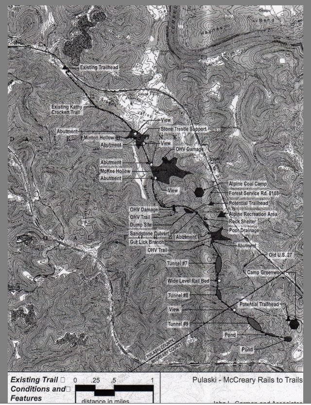 Topo map of tunnels 7 796