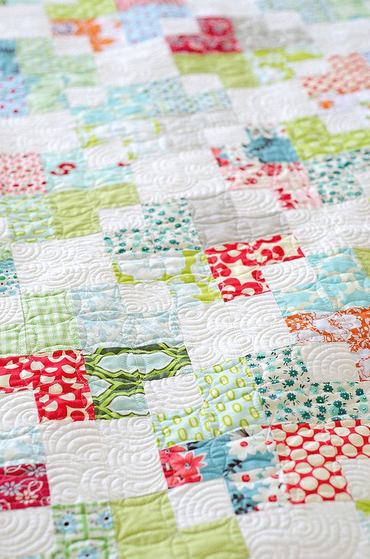 Love this! Pretty colors, simple design, beautiful quilting!