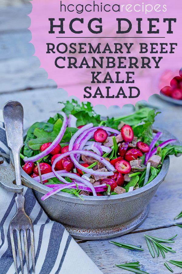Hcg Diet Phase 2 Recipe Rosemary Beef Cran Kale Salad Ap