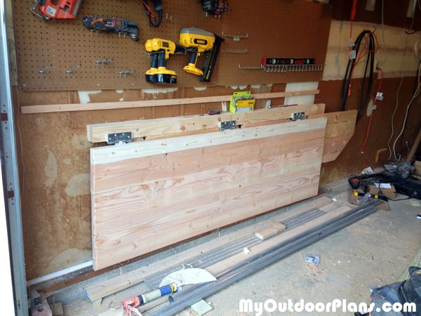 Save Space In Your Garage By Building A DIY Folding Workbench This Easy Sturdy Build Takes Weekend And When Not Working You Can Fold The Up