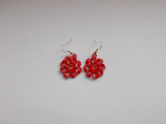 Check out this item in my Etsy shop https://www.etsy.com/listing/494411268/red-earrings