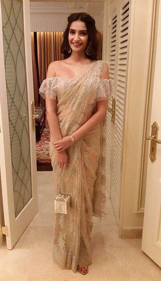 Sonam Kapoor in Shehlaa by Shehla Khan. Thx Vogue.in