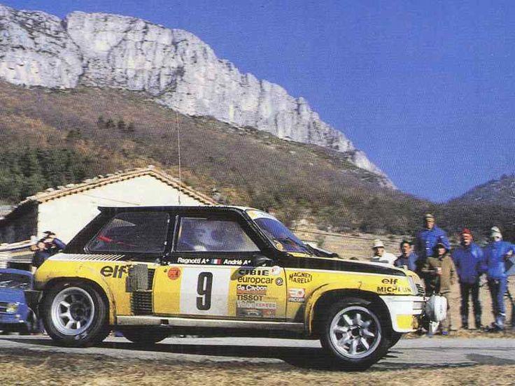 Jean Ragnotti - Jean-Marc Andrié - Renault 5 Turbo, Monte Carlo Rally 1981**