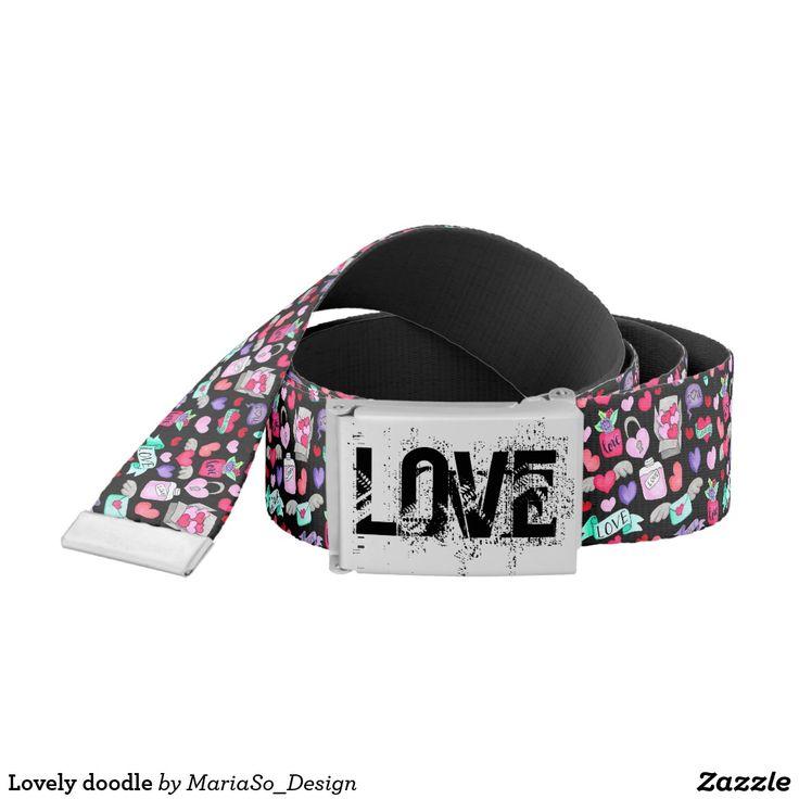Lovely doodle belt