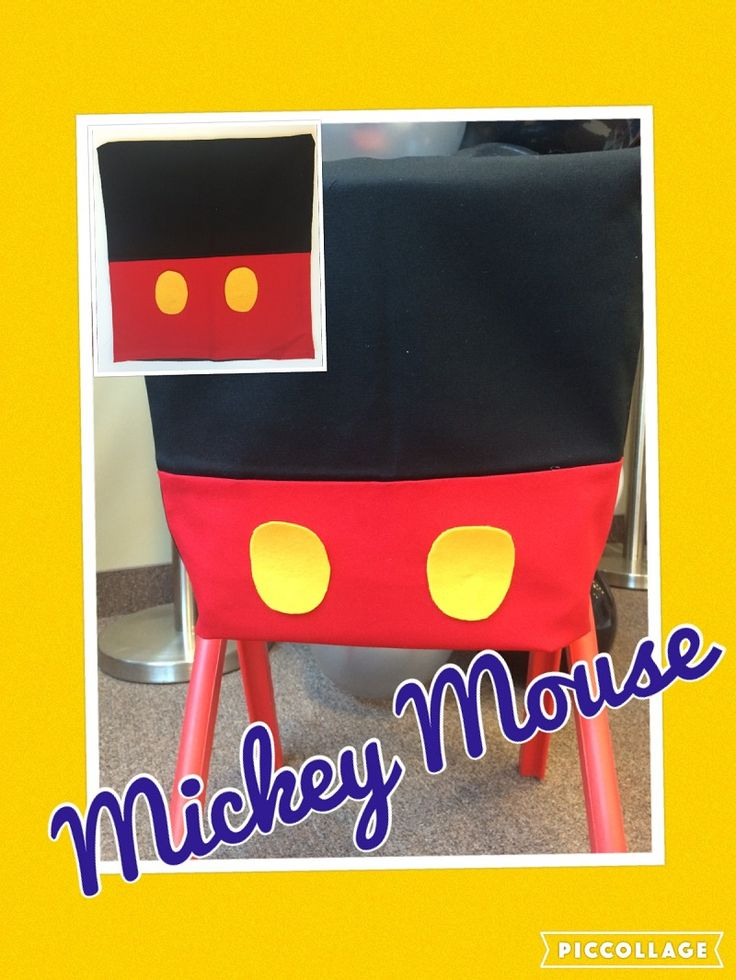 Mickey Mouse kids chair cover for rent! please contact us for detail at: decoraevents2010@gmail.com #mickeymouse #partydecor #birthdayboy