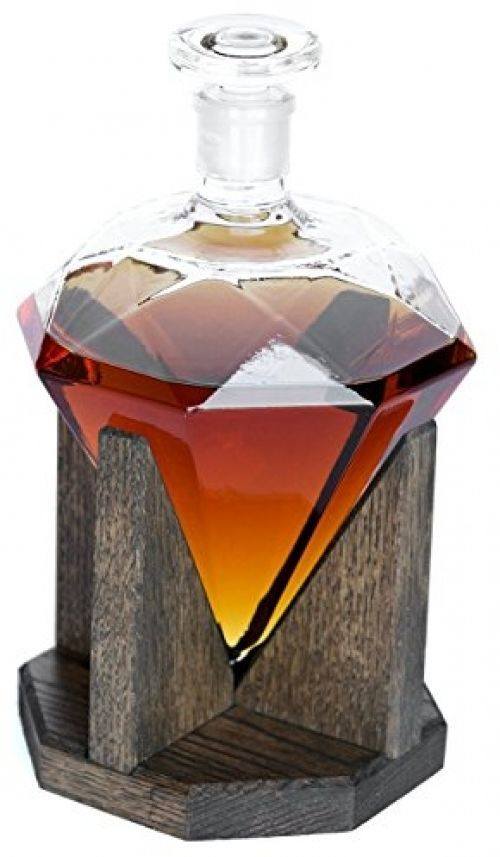 Diamond Whiskey Decanter Glass Liquor Decanter Scotch Rum Bourbon Vodka Bar Gift #PrestigeDecanters